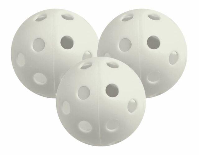 White Longridge Plastic Airflow Practice Golf Balls 12 Pack