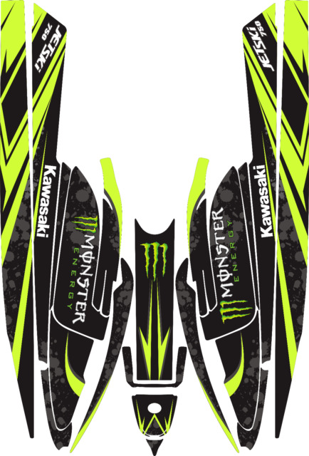 Exceptionnel N 177 KAWASAKI 750 SX SXR SXi 92 98 JET SKI DECALS STICKERS GRAPHICS KIT