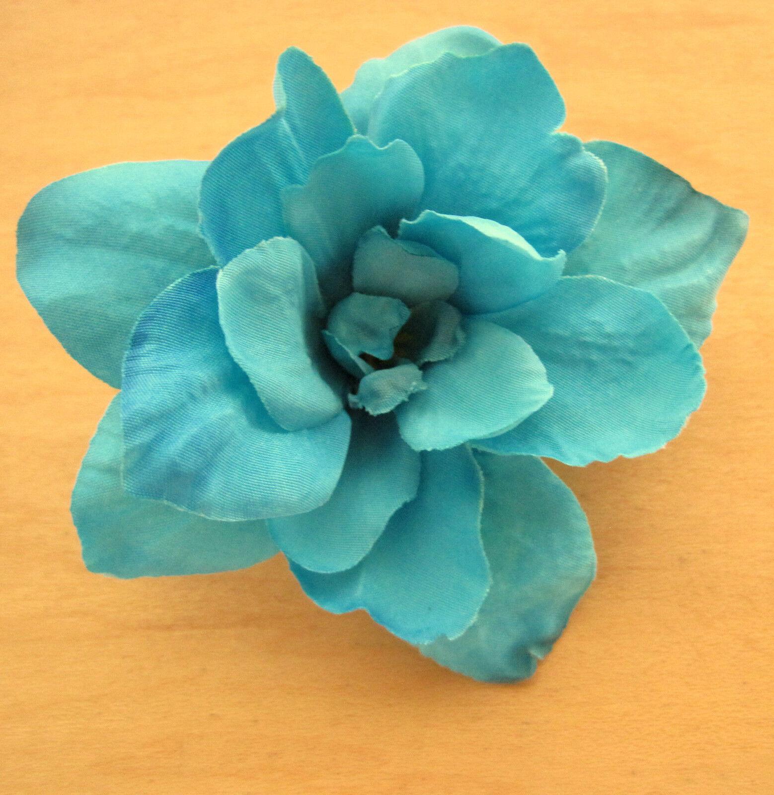 25 Turquoise Apple Blossom Silk Flower Hair Clip Dance Wedding