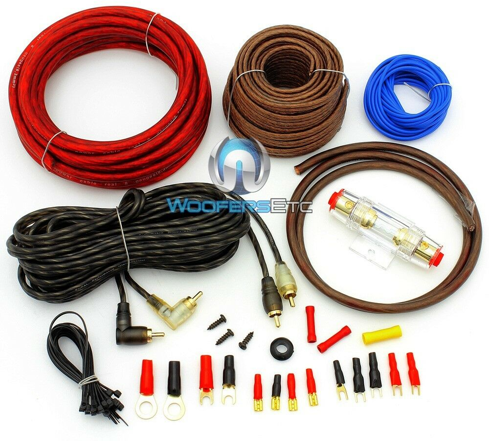 8 Gauge Amp Wiring Kit Solutions Rockford Fosgate Focal Pk8 Performance Complete Car Power Amplifier