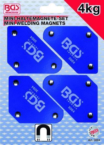 BGS 4- Teiliger Mini-Magnethaltersatz 45° 90° 135° Schweißmagnet 3004