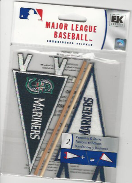 Case 576 Seattle Mariners 3d Mlb Pennant Scrapbook Stickers Retail