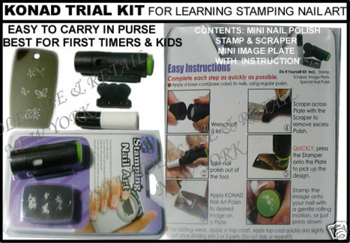 Konad Stamping Nail Design Trial Kit Beginners S10 Ebay