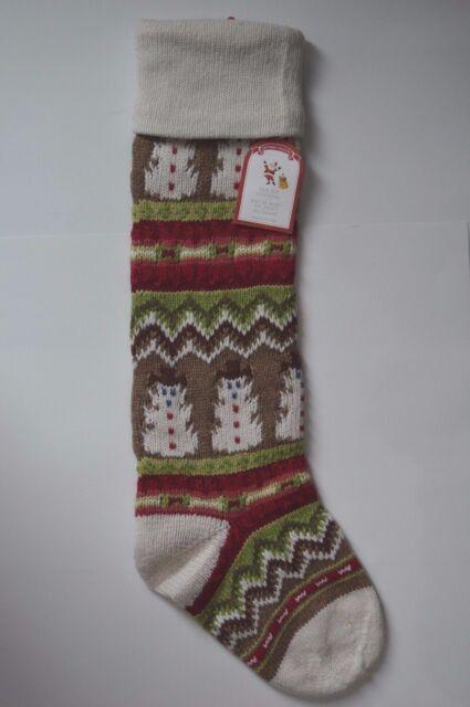 Pottery Barn Kids Classic Fair Isle Knit Snowman Christmas ...