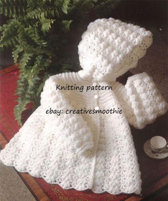432 Stunning Baby Hooded Jacket 4 Ply Crochet Pattern Ebay