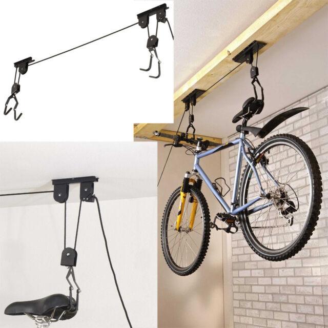 Bike Bicycle Cycle Pulley Lift Space Saving Garage Basement Ceiling Storage  20KG