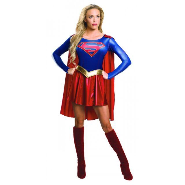 Supergirl Costume Supergirl Halloween Fancy Dress  sc 1 st  eBay & Returned Rubies 820238 Adult Womens Supergirl Costume Large   eBay