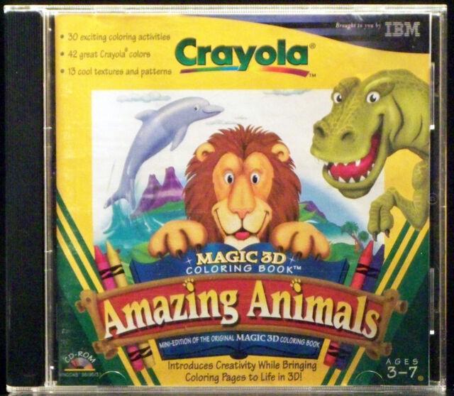 Crayola magic 3d coloring book amazing animals pc 1998 Crayola magic 3d coloring book amazing animals