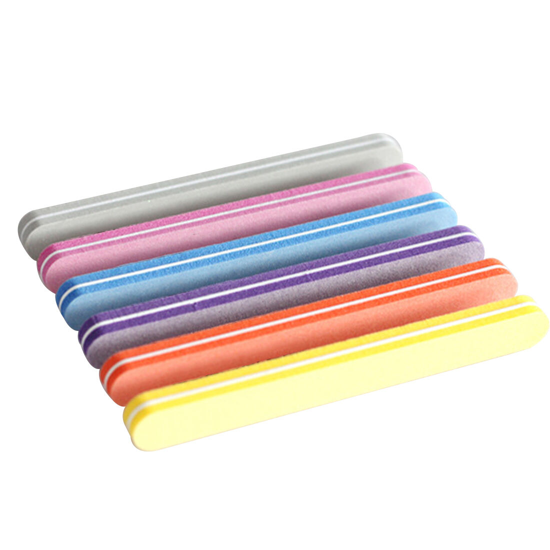5pcs Nail File Buffer Sanding Washable Manicure Tool Nail Art Polish ...