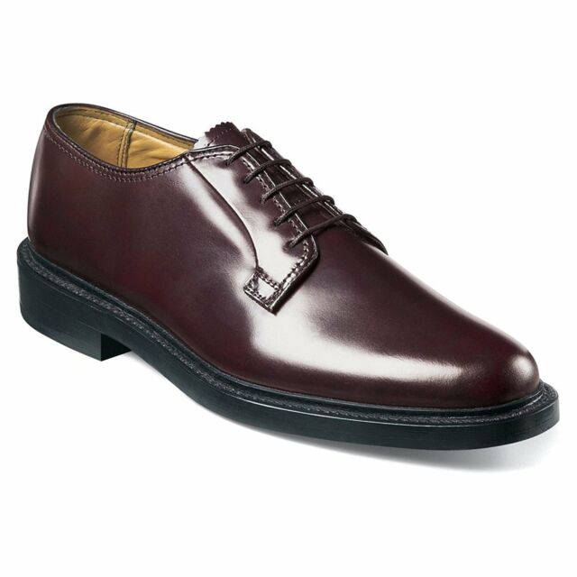 Florsheim Men's Kenmoor leather classic plain toe Burgundy Shoes 17108-05