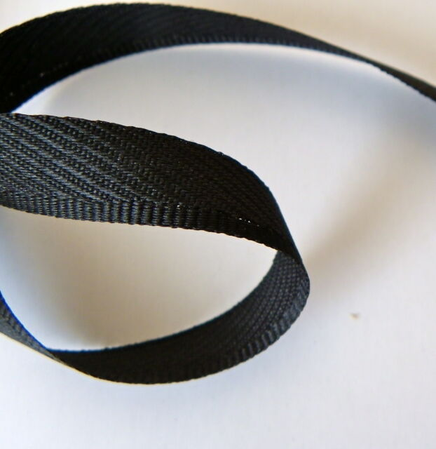 Kick Tape Black for trousers 13mm wide by 20 metres - full roll by Berisfords