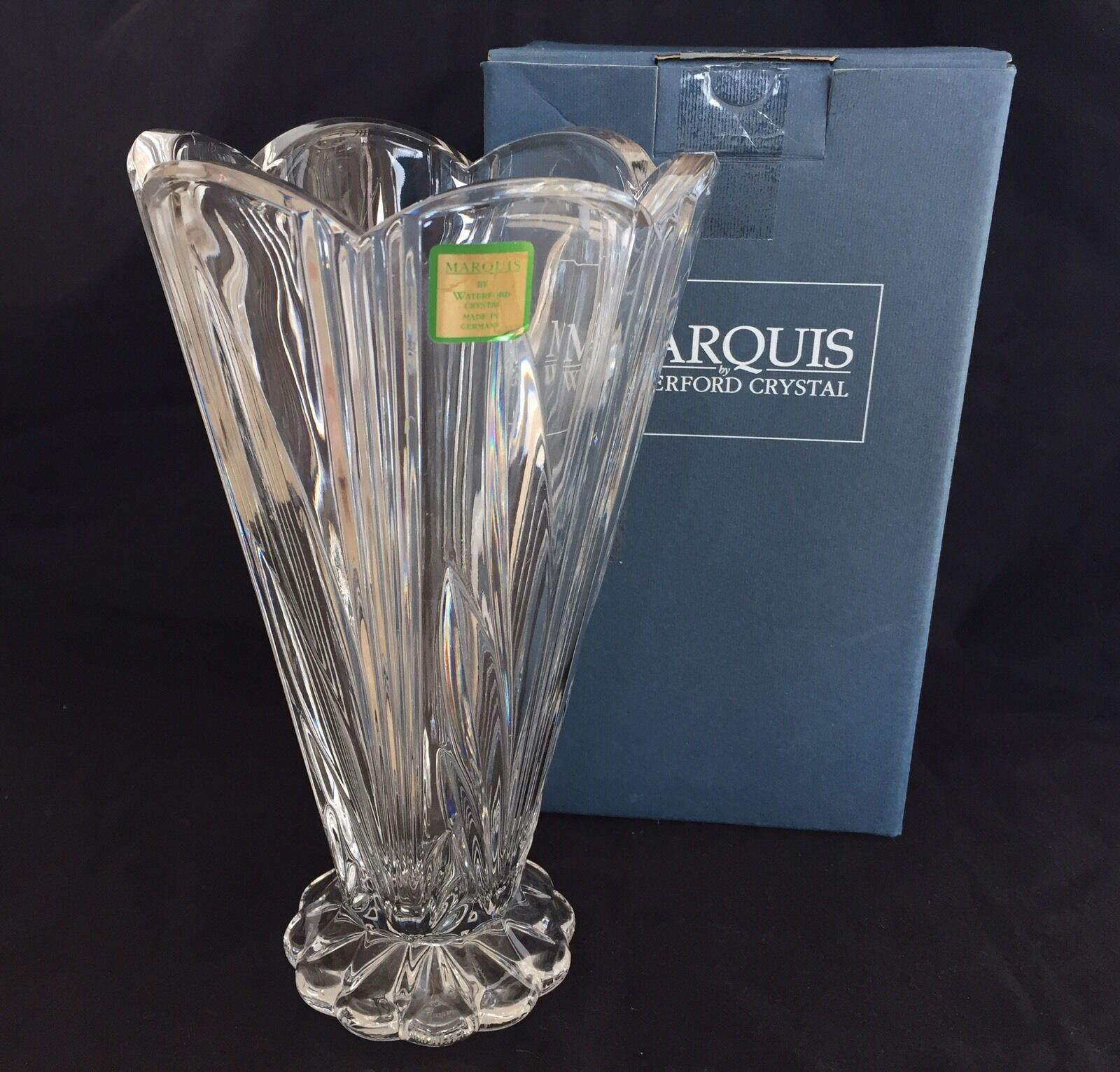 Marquis by waterford crystal 8 footed vase with scalloped rim marquis by waterford crystal 8 footed vase with scalloped rim made in germany ebay reviewsmspy