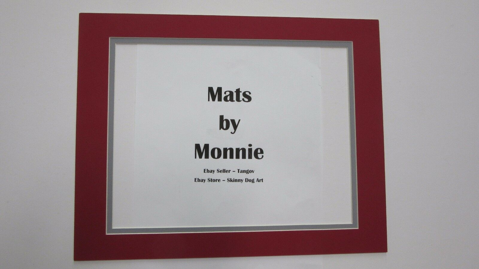 Picture Frame Double Mat 11x14 for 8.5 X11 Photo Scarlet and Grey ...