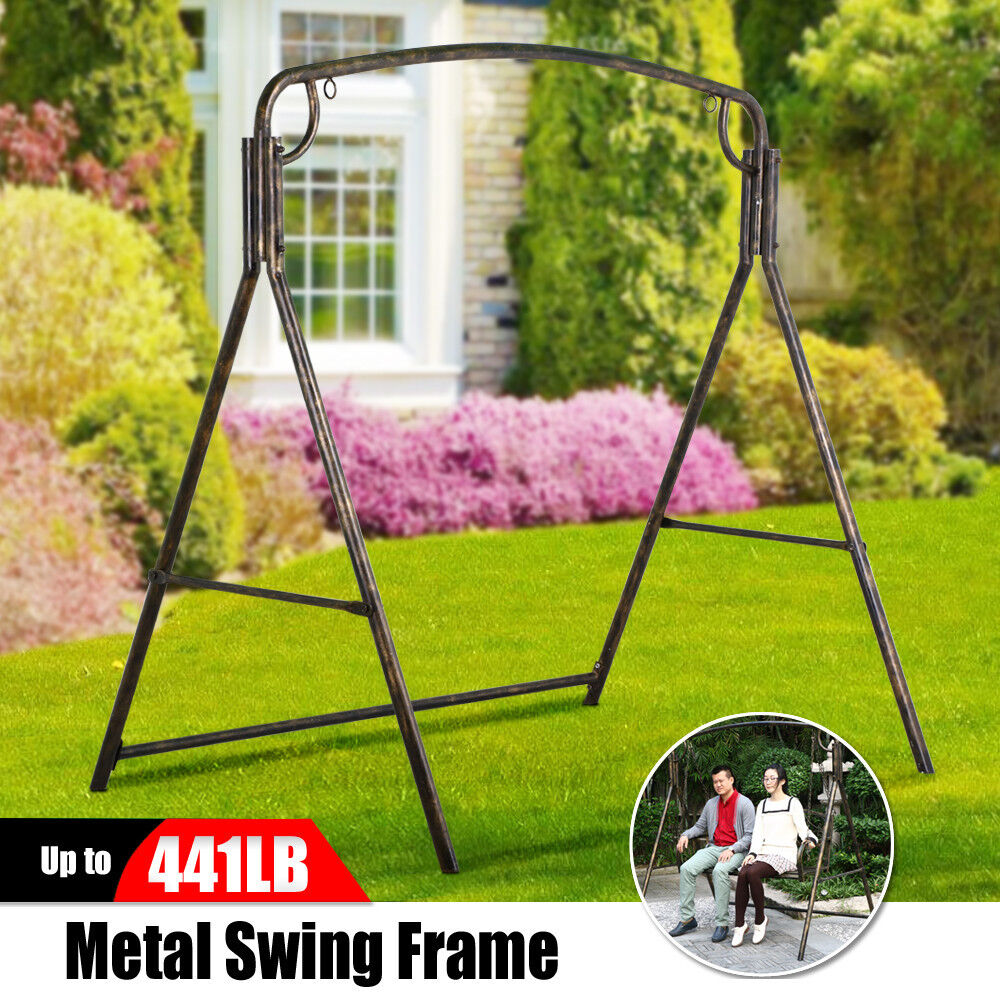 picture 1 of 8 - Metal Swing Frame