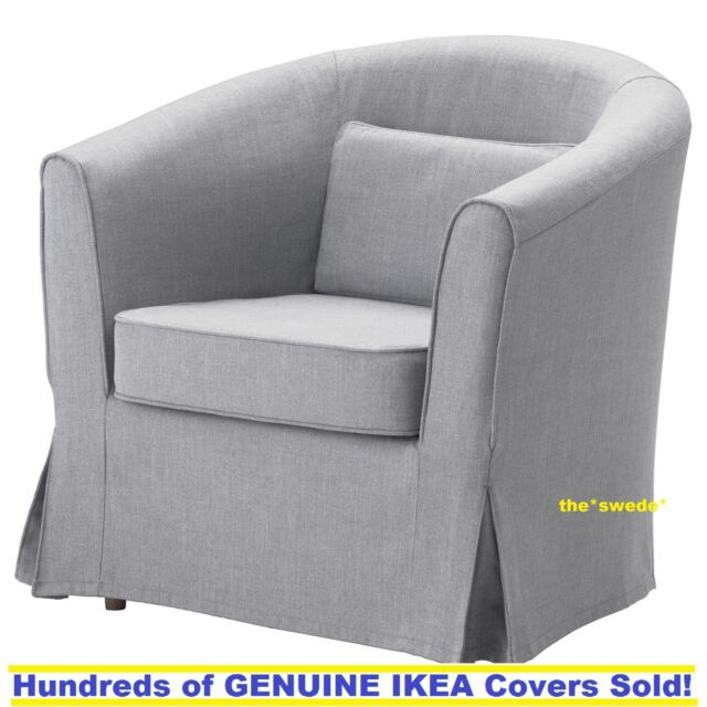 Ikea EKTORP TULLSTA Chair Armchair Cover Slipcover NORDVALLA MEDIUM GRAY  Sealed!