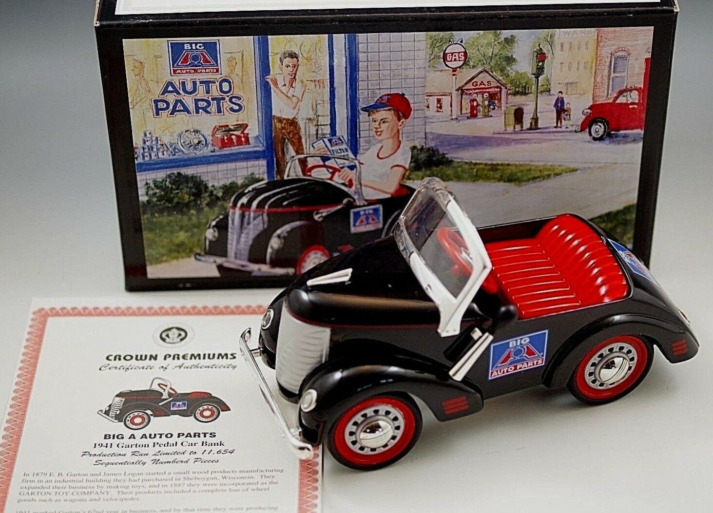 Big a Auto Parts Die Cast 1941 Garton Pedal Car Bank 1 6 Scale | eBay
