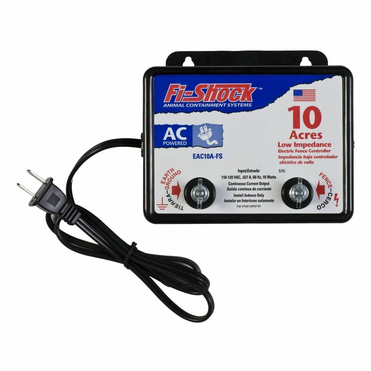 Electric fence charger high power pigs cattle horses deer 10 acre picture 1 of 1 sciox Choice Image