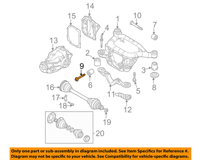 bmw genuine bolt with washer differential to axle carrier 14 x 65 rh ebay com GM Front Differential bmw e46 differential diagram