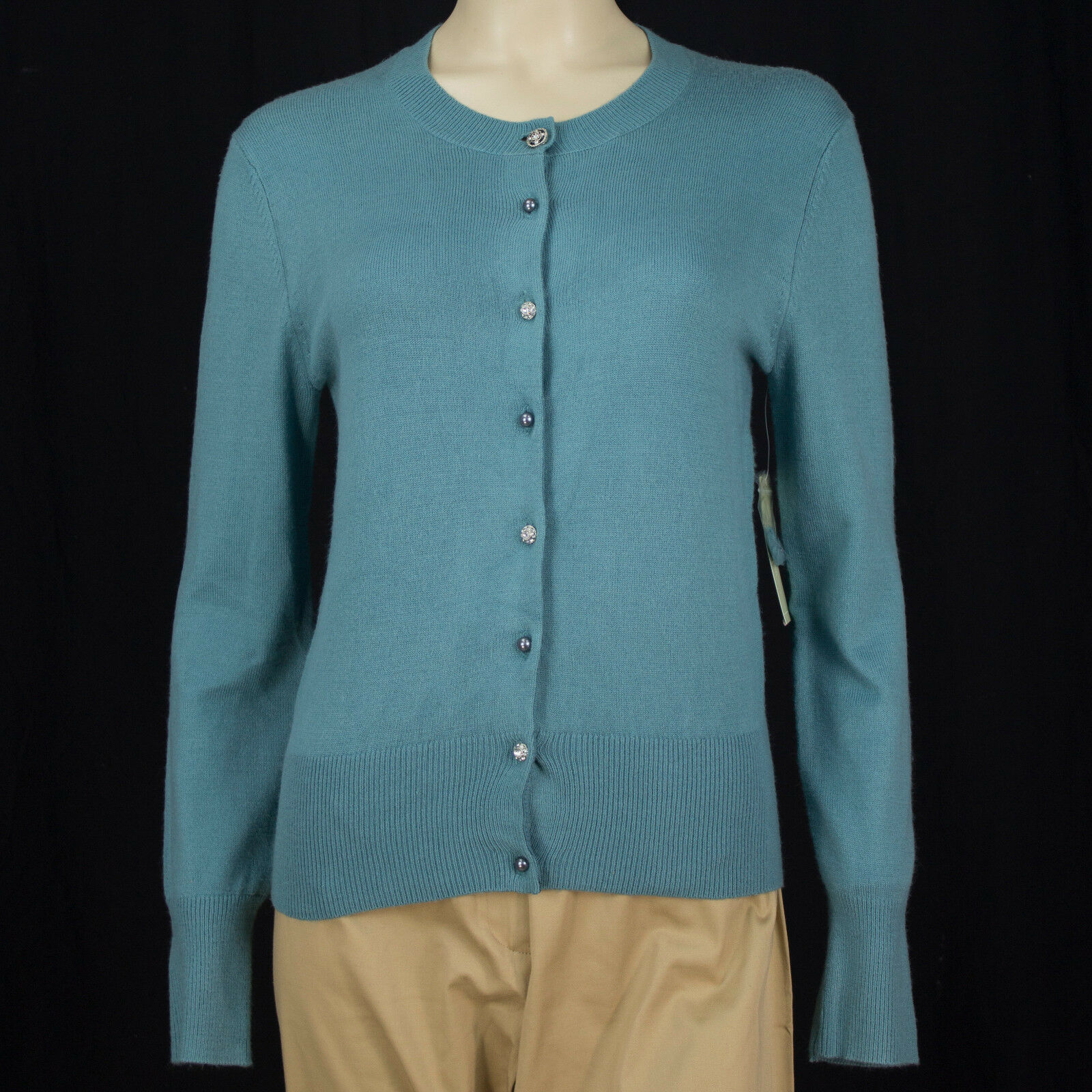 Field Gear Ladies Petite Waterfront Blue Button up Cardigan ...