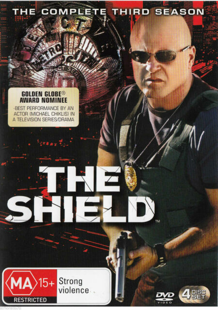 The Shield : Season 3 (DVD, 2007, 4-Disc Set) Brand New, Genuine & Sealed D40