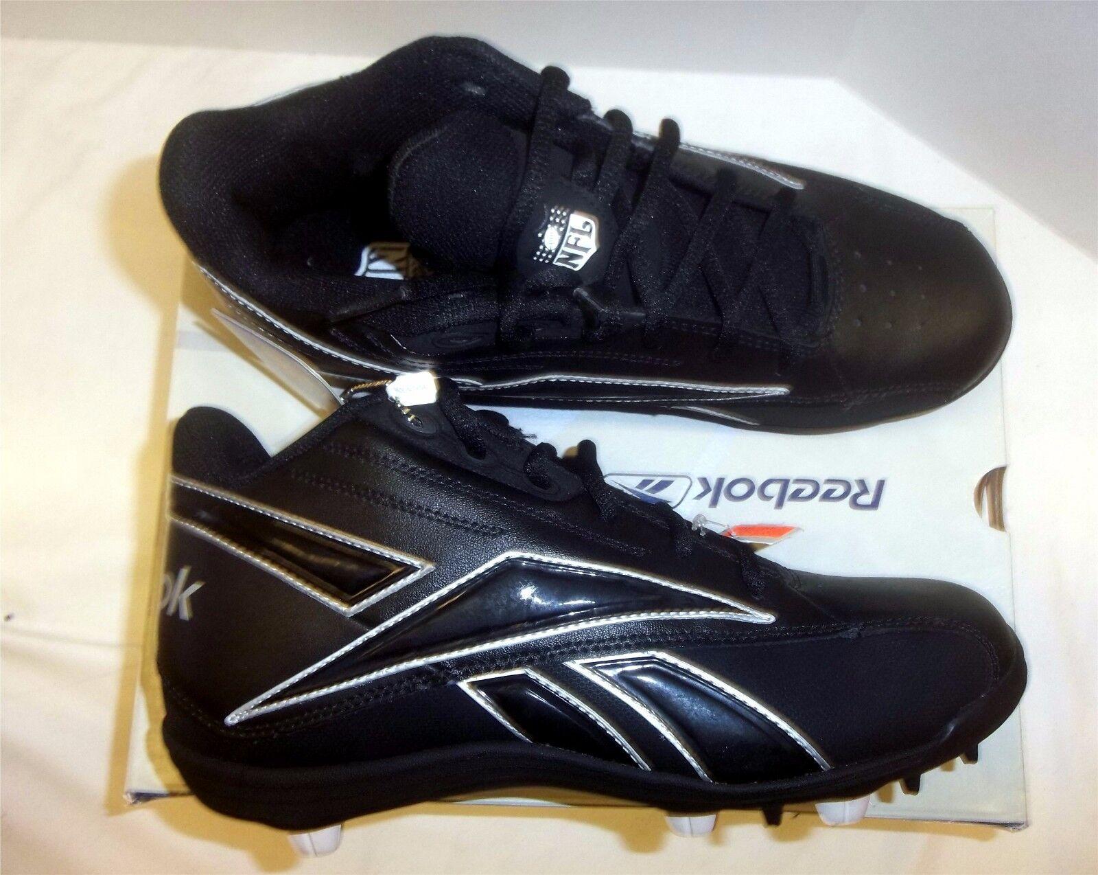 Top Sell - Reebok NFL Thorpe Mid MR7 Men's Football Cleats NIB Black/Black Size 15