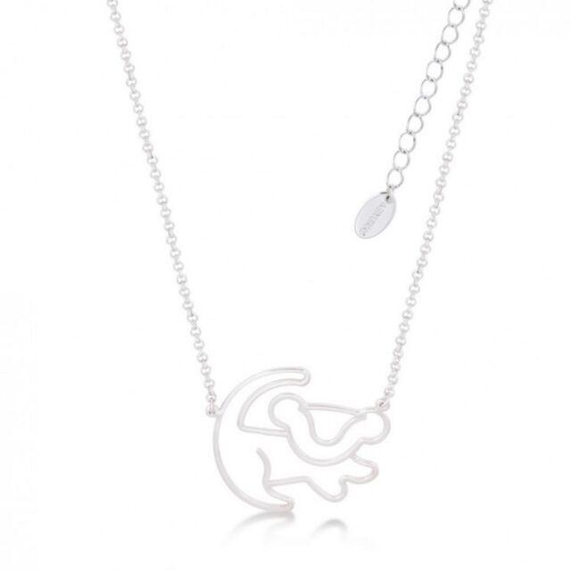 Disney Couture Mini Lion King Gold-Plated Simba Outline Necklace 9Mk5eZBgV