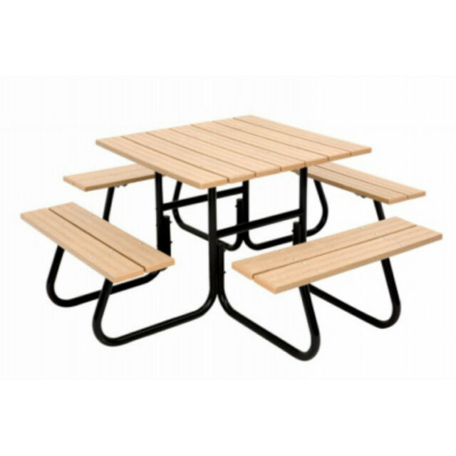 Jack Post FC 4411 Round 4 Sided Tubular Picnic Table, 1500 Lbs