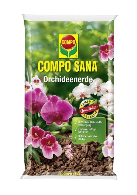 COMPO SANA Orchideenerde 5 Liter oder 10 L Orchideen Erde Pflanzen NPK