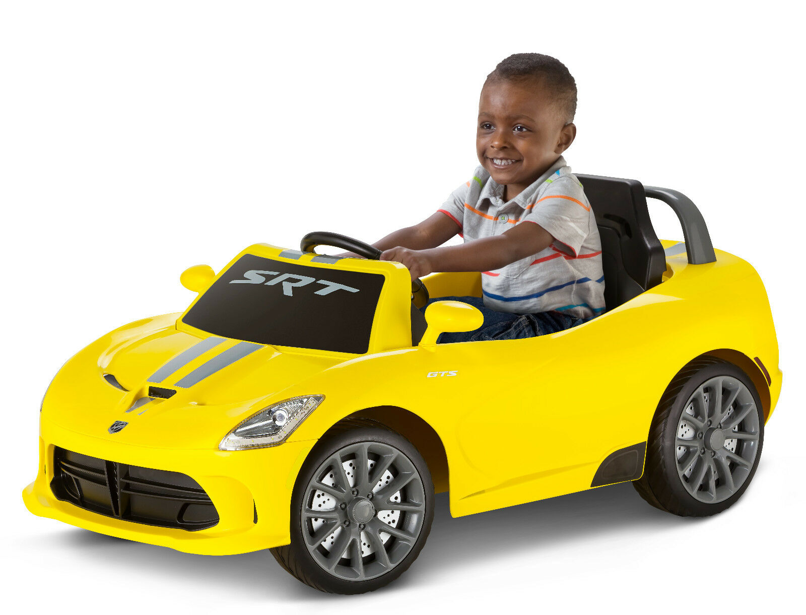 Dodge Viper Ride Yellow 6v Kids Electric Powered Car Outdoor Gift