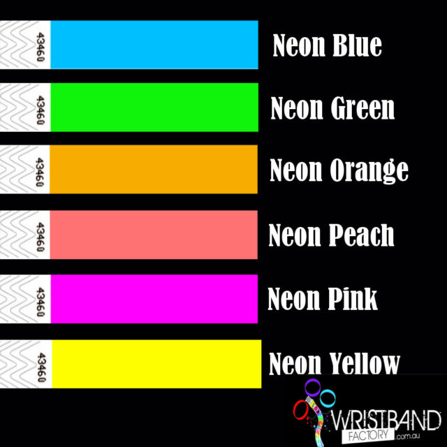 100 x Tyvek Mixed Party Function Event Security Wristbands You Choose The Colour