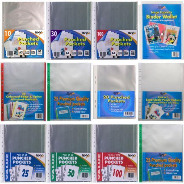 *OFFER* Tiger Stationery Clear Plastic Wallet Filing Poly Pockets - FULL RANGE!