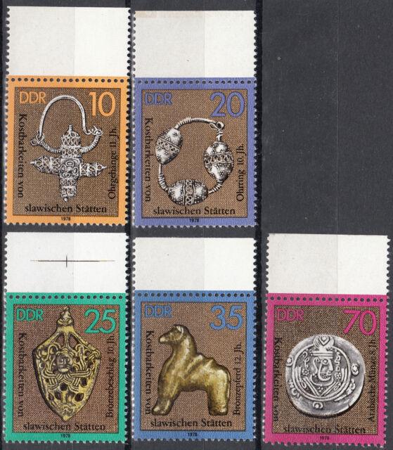 DDR 1978 Mi. Nr. 2303-2307 mit Rand Postfrisch (26431)