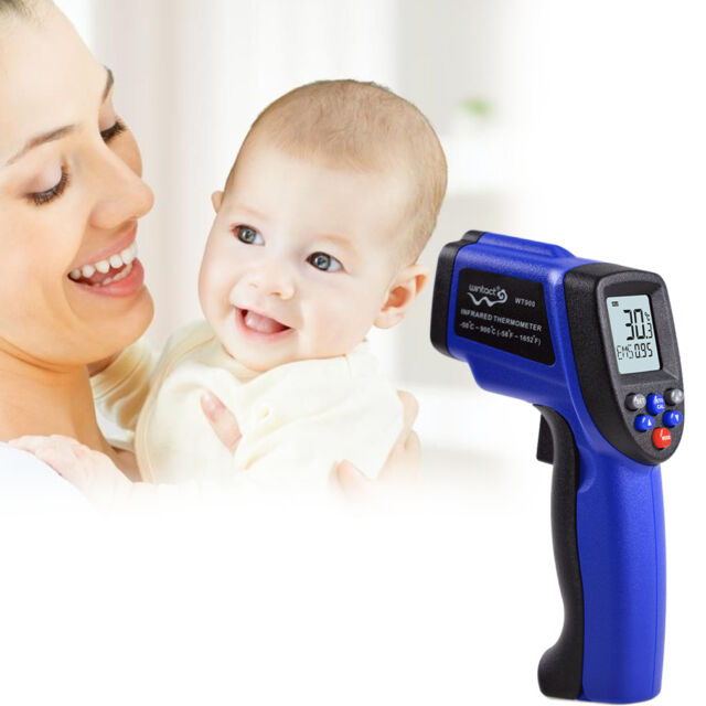 Hot Non Contact IR Infrared Digital Laser Thermometer  50oC to 900oC Blue FE