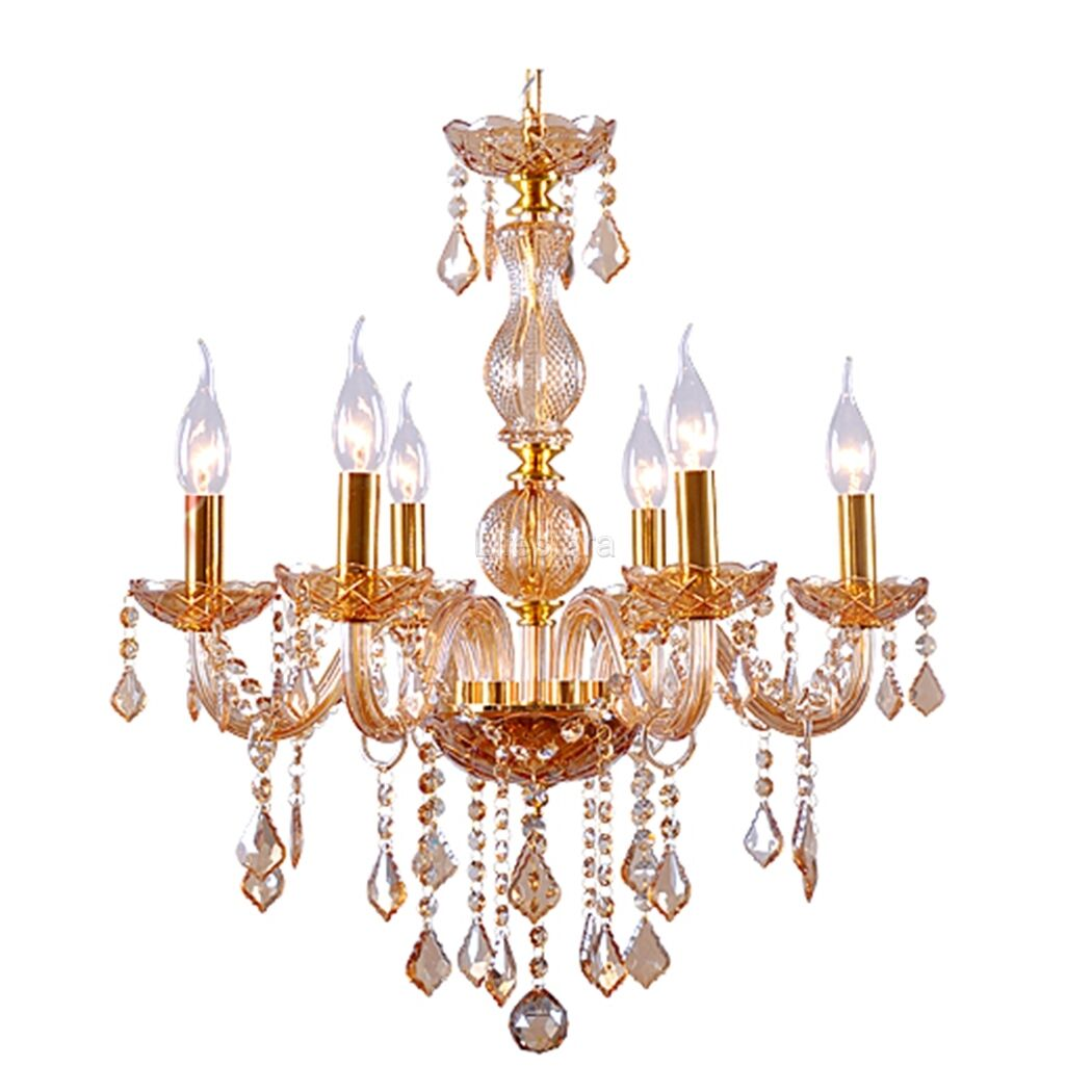 Homdox 6 candle light ceiling lamp fixture crystal chandelier picture 1 of 7 aloadofball Images