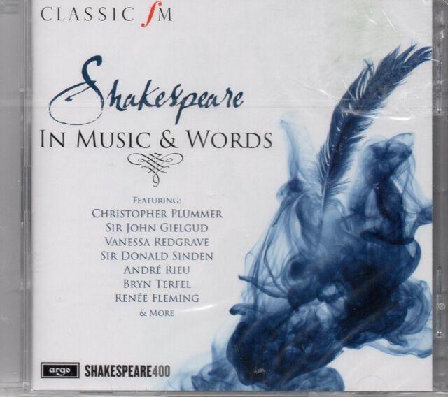 SHAKESPEARE IN WORDS & MUSIC - VARIOUS     *NEW & SEALED 2016 CD ALBUM*