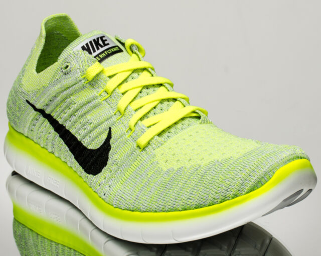 Nike Free RN Flyknit men running run shoes NEW pure platinum volt 831069-006