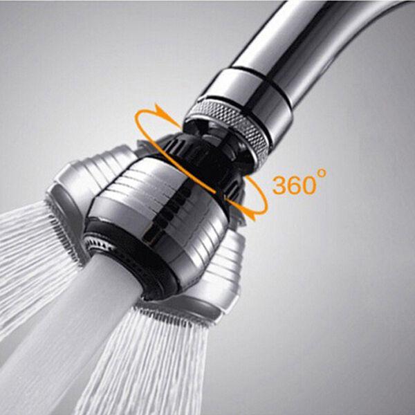 Water Saving Kitchen Tap Hose Faucet Aerator 360° Swivel Adjustable ...