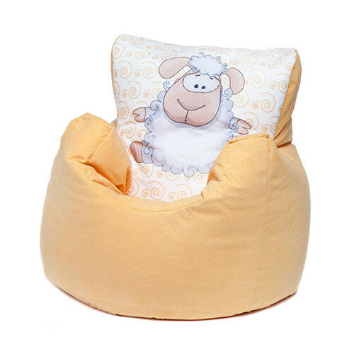 Yellow Sheep Childrens Character Filled Beanbag Kids Bean Bag Chair Bedroom