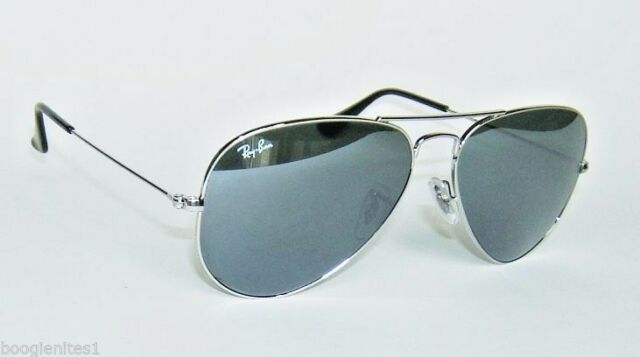 665b028d42d31 new style ray ban aviator mirror sunglasses silver ebay bb6fa 5dae4