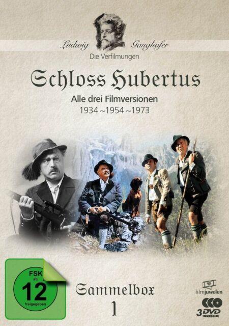 Schloss Hubertus (1934,1954,1973) - Ludwig Ganghofer Box 1, 3 DVD NEU + OVP!