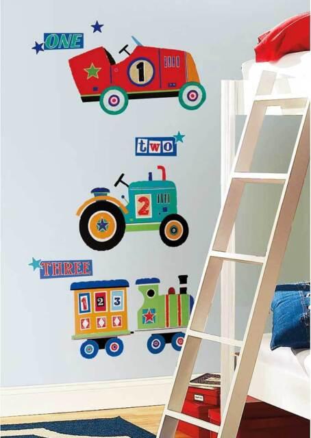 RoomMates Wandsticker Wandtattoo Traktor Lokomotive Auto | eBay