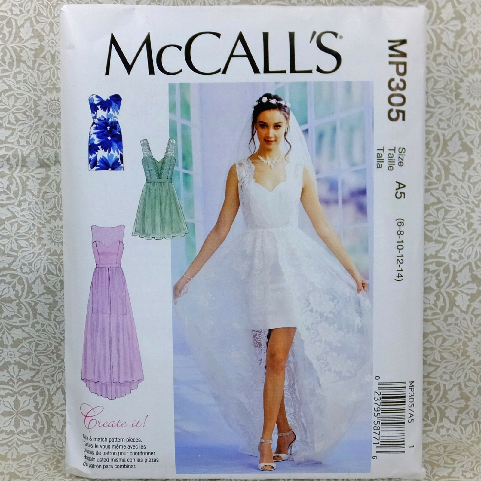 Mccall\'s MP305 Sewing Pattern Layered Formal Dress Bridal Prom Gown ...