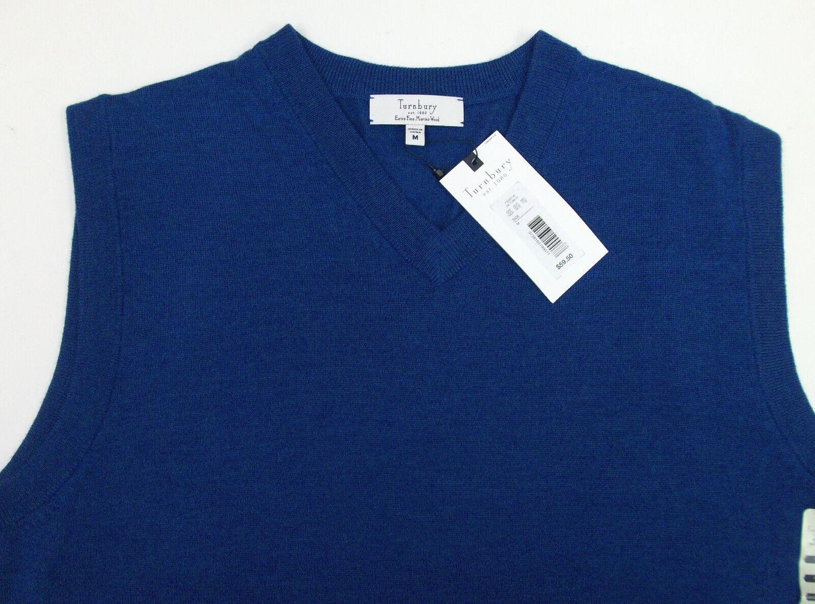 Turnbury Merino Wool BIELLA Yarn Sweater Vest Red Gray Blue Tan ...