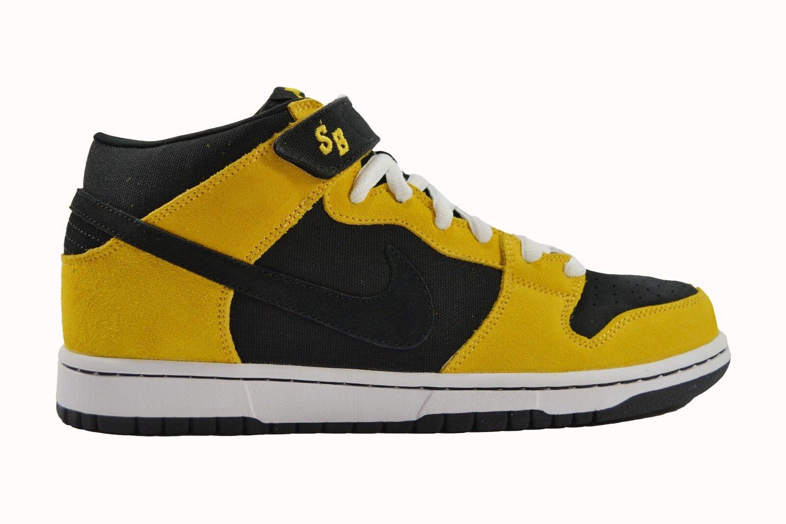 Nike Wu Tang DUNK MID PRO SB Black Varsity Yellow 314383-004 (267) Men's Shoes