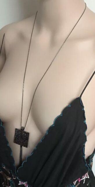 Mimco 💞 Gunmetal Flamboya Pendant Necklace Choker Brand New + Dust Bag