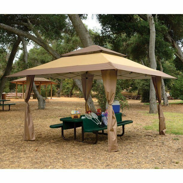Gazebo Pop up Instant Shade Sun Shelter Patio Canopy Tent Outdoor Picnic BBQ Tan | eBay  sc 1 st  eBay : bbq canopy - memphite.com