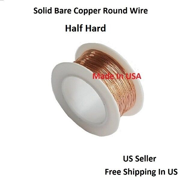 10 AWG Bare Solid Copper Round Wire 5 FT Coil / Half Hard | eBay