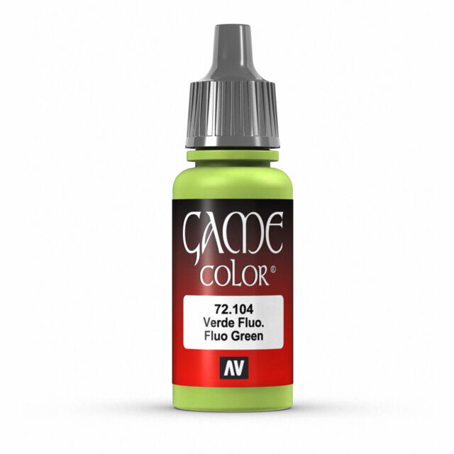 Vallejo Game Color: Fluo Green - VAL72104 Acrylic Model Paint 17mm Bottle