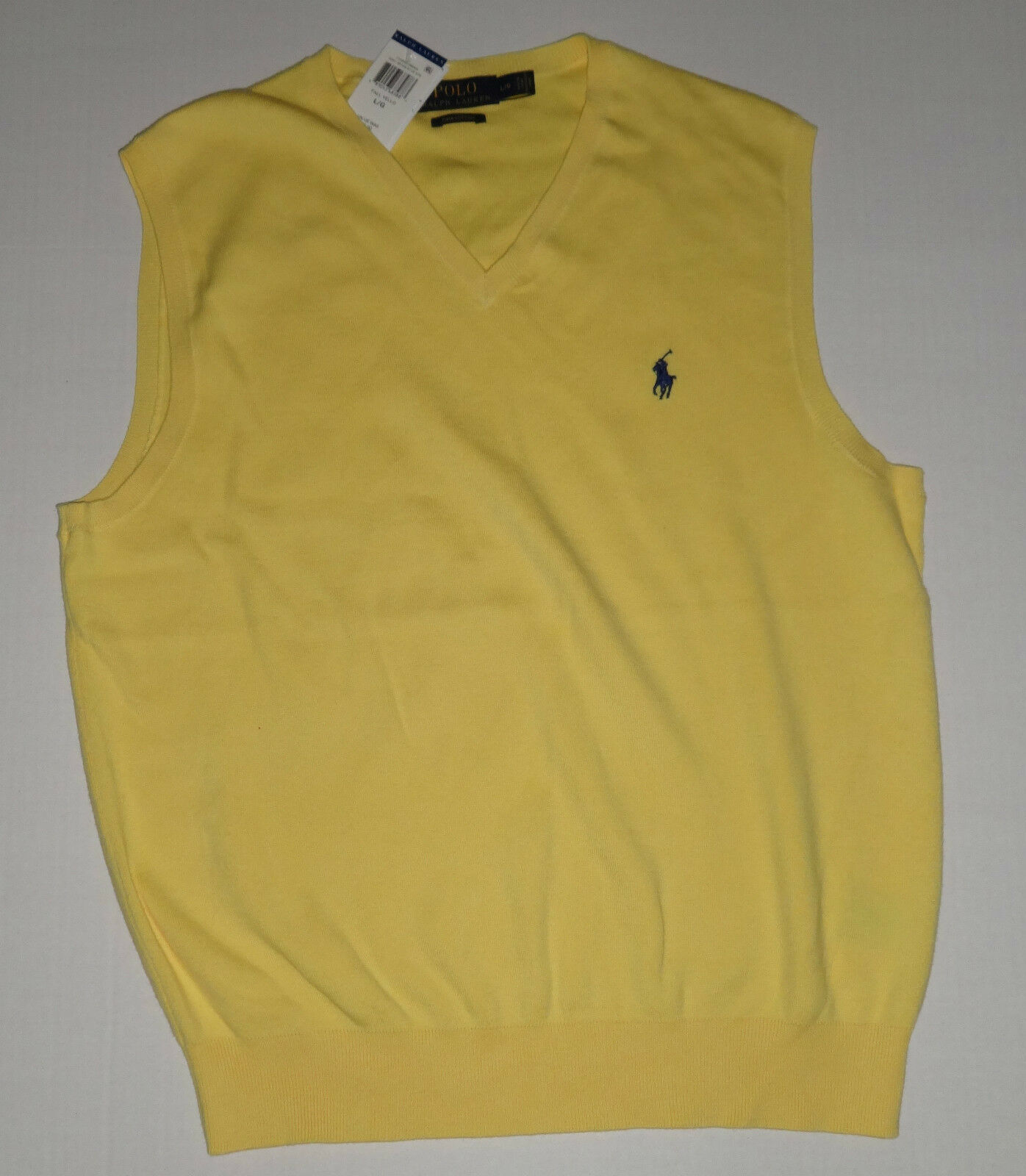 Polo Ralph Lauren Big and Tall Mens Yellow Pima Cotton Sweater ...