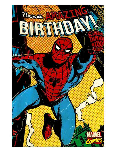 Spider Man Happy Birthday Card Sayings